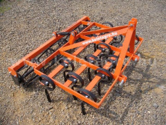 Combinator 140 cm, for Japanese compact tractors, with spring tines and clod crusher, Komondor SKO-140 - Implements - Cultivators with Tines