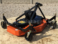Finishing mower 120 cm, with 4 wheels and 3 blades, for Japanese compact tractors, DM120 - Implements - Lawn mowers and grass cutters
