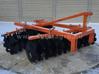 Disc harrow 200 cm, for Japanese compact tractors, Komondor SFT-200 (1)