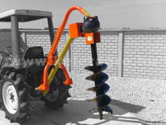 Hole digger machine, with PTO shaft, for Japanese compact tractors - Implements -