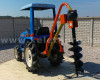 Hole digger machine, with PTO shaft, for Japanese compact tractors (2)