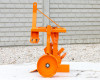 Plow with 1 head, for 9-16HP Japanese compact tractors, Komondor SER-1 (6)