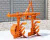 Plow with 2 heads, for 15-23HP Japanese compact tractors, Komondor SER-2 (5)