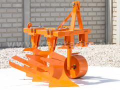 Plow with 2 heads, for 15-23HP Japanese compact tractors, Komondor SER-2 - Implements - Plows
