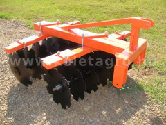 Disc harrow 110 cm, for Japanese compact tractors, Komondor SFT-110 - Implements - Disc Harrows