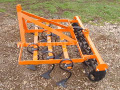 Cultivator 140 cm, with clod crusher, for Japanese compact tractors, Komondor SKU-140 - Implements - Cultivators