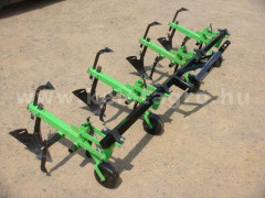 Cultivator with 4 hoe units, with hiller, for Japanese compact tractors, Komondor SK4 - Implements - Cultivators