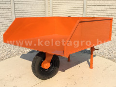 Transport container 130 cm, rear mounted wheels - Implements - Transport and Loader Implements