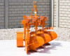Plow with 3 heads, for 24-30HP Japanese compact tractors, Komondor SE-3 (3)