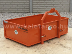 Transport box 130 cm, for Japanese compact tractors, drop down tailboard, Komondor SZLH-130 - Implements - Transport and Loader Implements