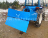 Transport box 130 cm, for Japanese compact tractors, drop down tailboard, Komondor SZLH-130 (11)