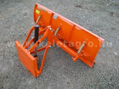 Snow plow 125cm, hidraulic lifting, manual angle adjustment, for Japanese compact tractors, Komondor STLR-125 - Implements - Front Mounted Snow Plows