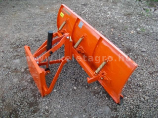 Snow plow 140cm, hidraulic lifting, manual angle adjustment, for Japanese compact tractors, Komondor STLR-140 (1)