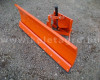 Snow plow 140cm, hidraulic lifting, manual angle adjustment, for Japanese compact tractors, Komondor STLR-140 (3)