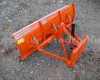 Snow plow 140cm, hidraulic lifting, manual angle adjustment, for Japanese compact tractors, Komondor STLR-140 (4)