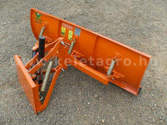 Snow plow 140cm, hidraulic lifting, hidraulic angle adjustment, for Japanese compact tractors, Komondor STLRH-140 - Implements - Front Mounted Snow Plows