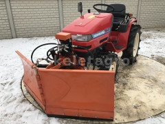 Snow plow 150cm, vario, independent side by side adjustable, for Japanese compact tractors, Komondor SHE-150 - Implements - Front Mounted Snow Plows