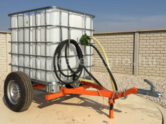 Irrigation trailer for Japanese compact tractors, Komondor SOP-1000 - Implements - Trailors