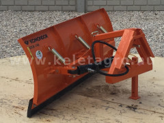 Snow plow 140cm, hidraulic lifting, manual angle adjustment, for front hitch, Komondor STLRH-140/F - Implements - Front Mounted Snow Plows