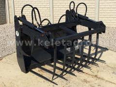 Force wheel loader manure and bale fork attachment - Implements -