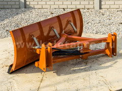 Snow plow 140cm, for front loader, Komondor STLR-140/FL - Implements - Front Mounted Snow Plows