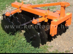 Disc harrow 90 cm, for Japanese compact tractors, Komondor SFT-90 - Implements -