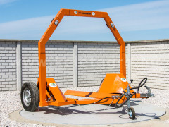Bale transporter for Japanese compact tractors - Implements - Transport and Loader Implements