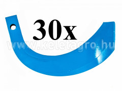 Rotary tiller blade for Japanese compact tractors Iseki / Kubota / Mitsubishi / Shibaura / Yanmar, set of 30 pieces, SPECIAL OFFER! - Compact tractors -
