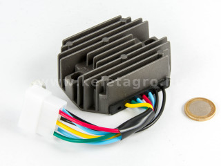 Voltage regulator with 6-cable connector for Kubota and Yanmar Japanese compact tractors (1)