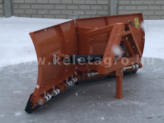 Snow plow 150cm, vario, independent side by side adjustable, for front hitch and front quick hitch, Komondor SHE-150/F - Implements - Front Mounted Snow Plows