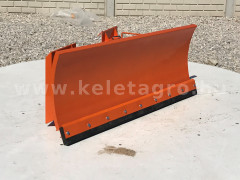 Snow plow 140cm, hidraulic lifting, manual angle adjustment, for skid steer loaders, Komondor STLR-140/B kf - Implements - Front Mounted Snow Plows
