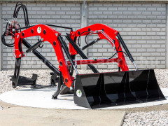 Front loader for Yanmar RS-27 Japanese compact tractors, Komondor PHR-300RS-27 - Implements -