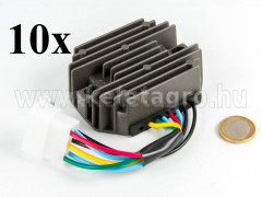 Voltage regulator with 6-cable connector for Kubota and Yanmar Japanese compact tractors, set of  10 pieces, SPECIAL OFFER!  - Compact tractors -