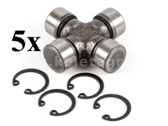 PTO shaft cross joint 19x52mm, outer seeger rings, for Japanese compact tractors, set of 5 pieces, SUPER SALE PRICE! - Compact tractors -