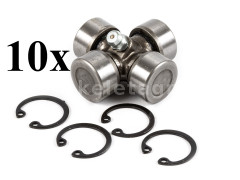 PTO shaft cross joint 20x44,3mm, outer seeger rings, for Japanese compact tractors, set of 10 pieces, SUPER SALE PRICE! - Compact tractors -