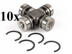 PTO shaft cross joint 26,5x72mm, inner seeger rings, for Japanese compact tractors, set of 10 pieces, SUPER SALE PRICE! - Compact tractors -