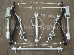 3 Point Hitch kit, reinforced (boxed) - Compact tractors -