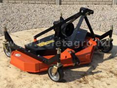 Finishing mower 150 cm, with 4 wheels and 3 blades, for Japanese compact tractors, DM150 - Implements -