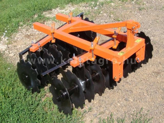 Disc harrow 160 cm, for Japanese compact tractors, Komondor SFT-160 (1)