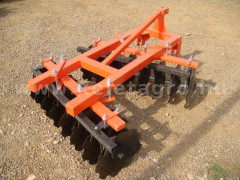 Disc harrow 130 cm, for Japanese compact tractors, Komondor SFT-130 - Implements - Disc Harrows